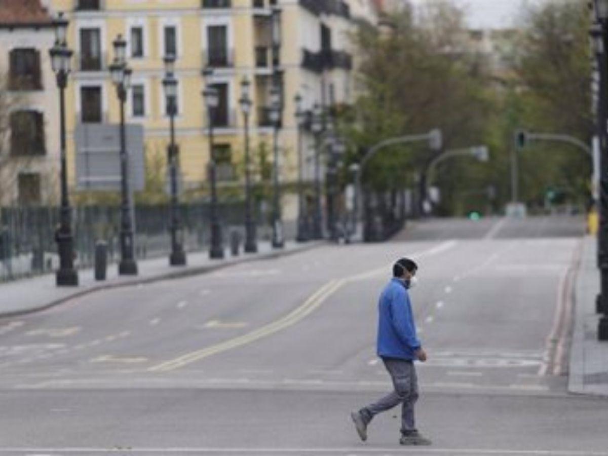 Centro de Madrid en el día 33 del estado de alarma