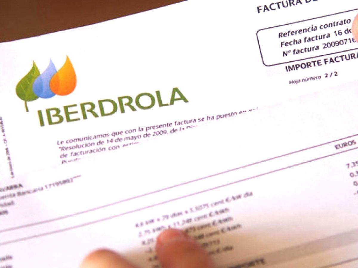 Factura de la compañía eléctrica Iberdrola