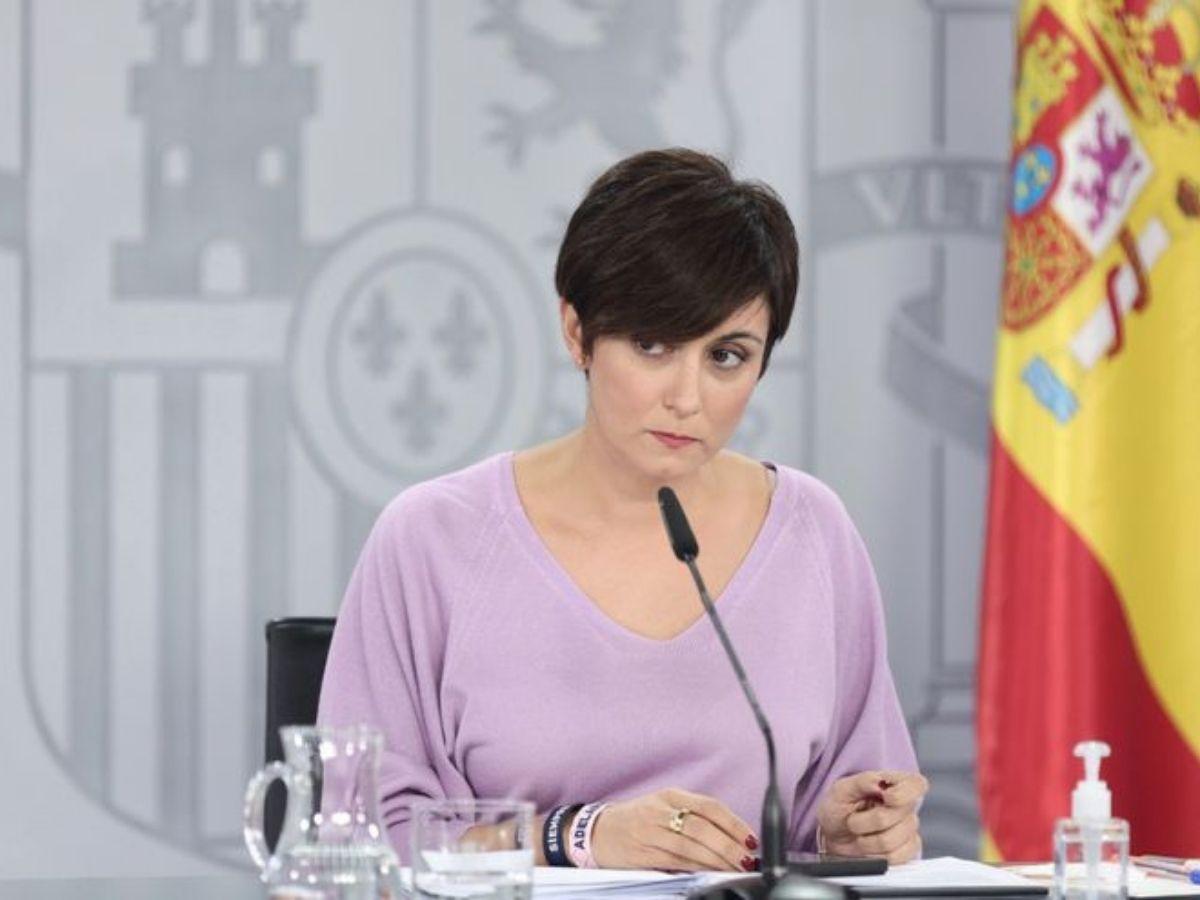 La ministra de Política Territorial y portavoz del Gobierno, Isabel Rodríguez, en una rueda de prensa posterior al Consejo de Ministros